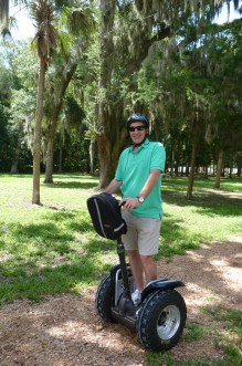 David on his segway