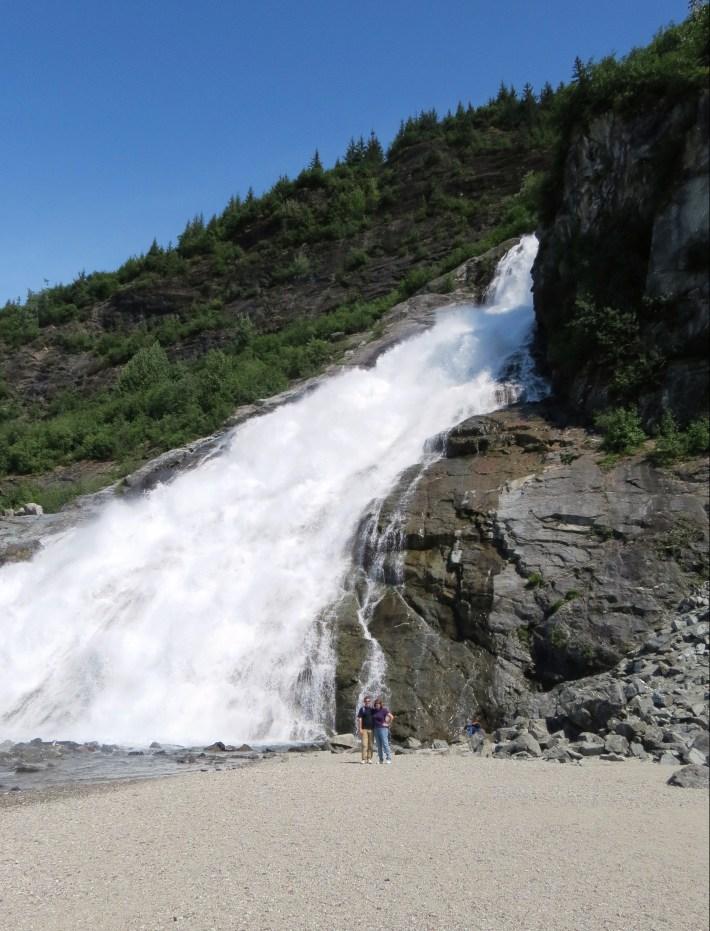 David and Susan at the base of Nugget Falls