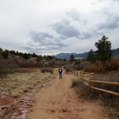 David on a trail