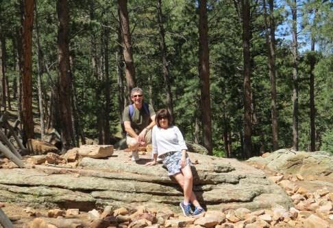 David and Linda take a break