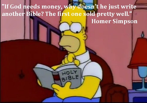 Homer Simpson on The Bible
