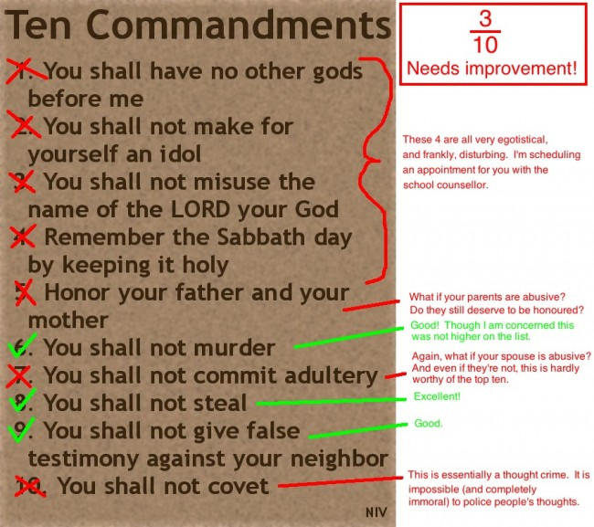 The 10 Commandments Suck
