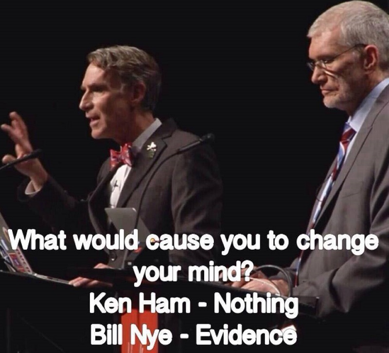 Ken Ham Nothing Bill Nye Evidence