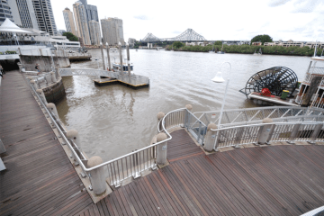 Southern Stainless - Brisbane City Reach Riverwalk, balustrade, stainless steel