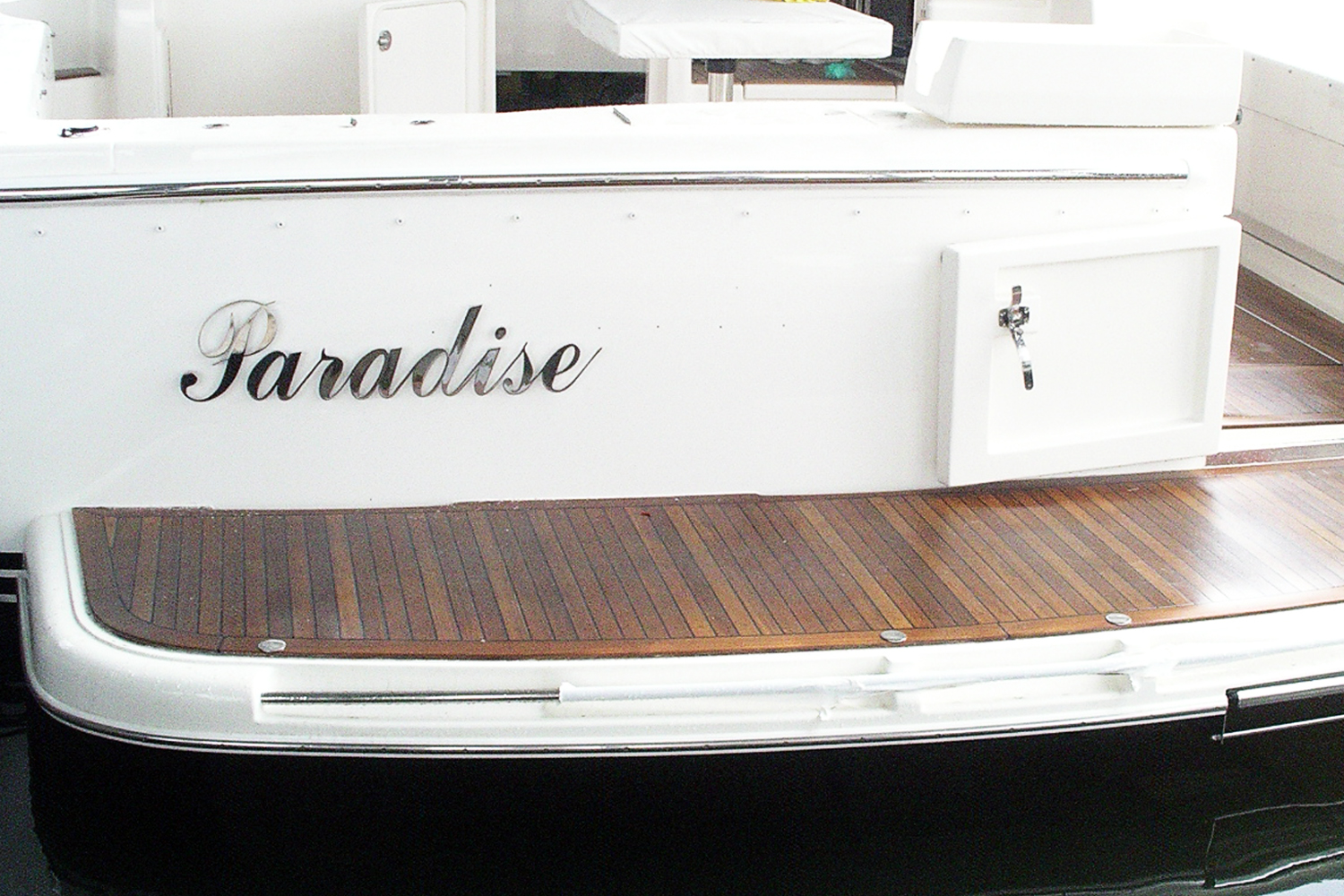 Stainless boat name and lettering