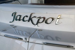 Custom stainless steel boat name and letters
