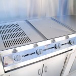 Residential stainless outdoor benche and bbq