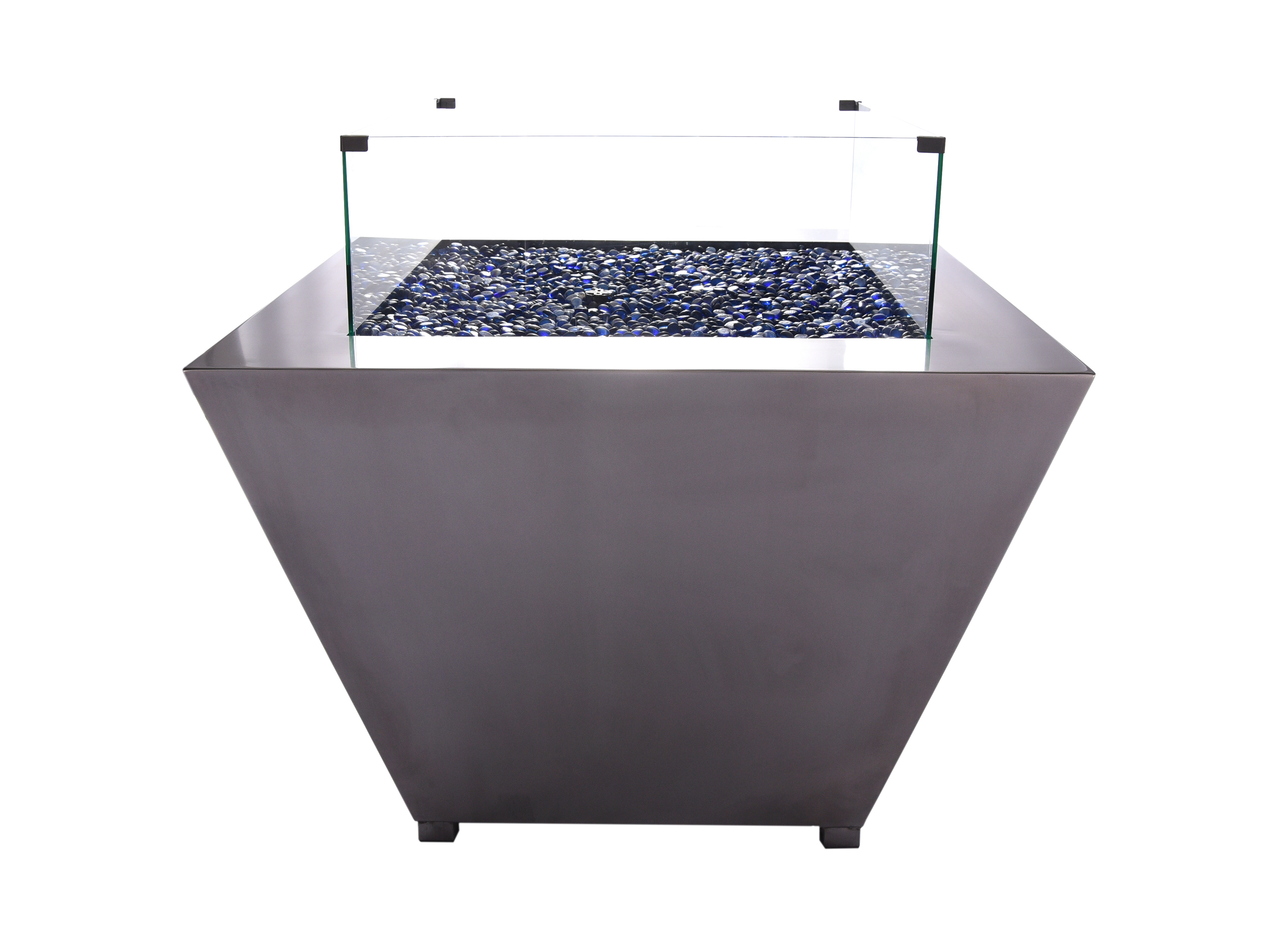 Square Stainless steel gas FirePit