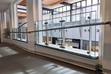 Myer Extension at Robina Town Centre Curved Stainless Balustrade
