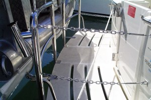 Stainless chain gates with rod holders