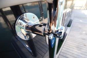 Stainless steel heavy duty gate latch for duckboard rail