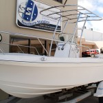Australian made Stainless Bow Rail and Targa Top for small boat