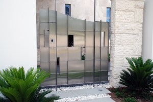 Stainless Steel custom fabricated residential feature side gate
