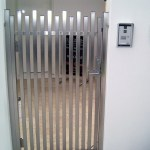 Stainless Steel custom fabricated panelled front gate