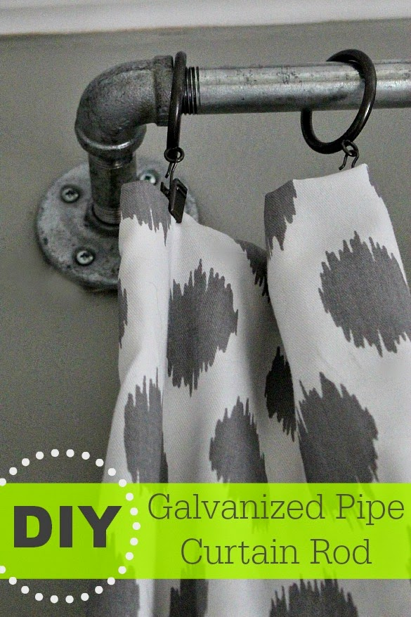 diy galvanized curtain rods southern