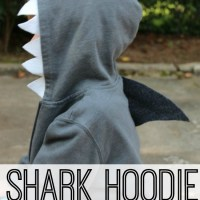 DIY Shark Hoodie {No Sewing Machine Needed}