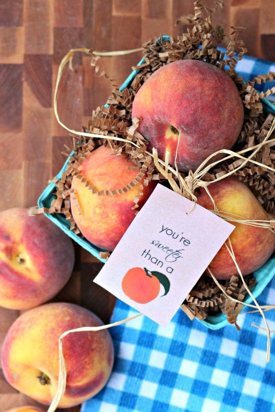 Sweet as a Peach Teacher Gift