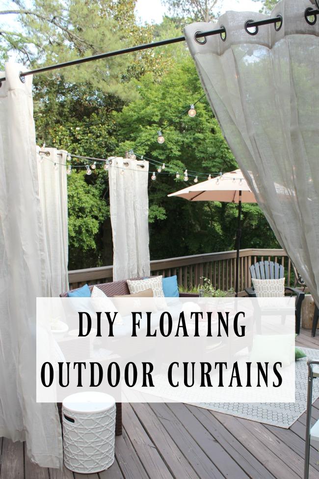 diy floating outdoor curtain rod