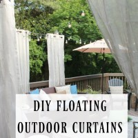 DIY Floating Outdoor Curtains