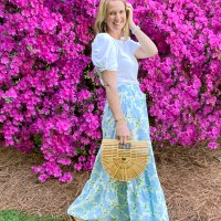 Daily Looks || Floral Print Target Maxi Skirt for Spring