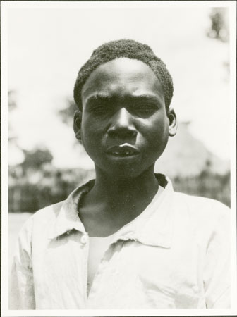 Portrait of a Zande boy