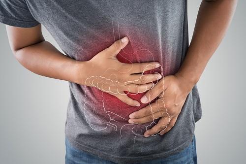 Patient having stomach pain