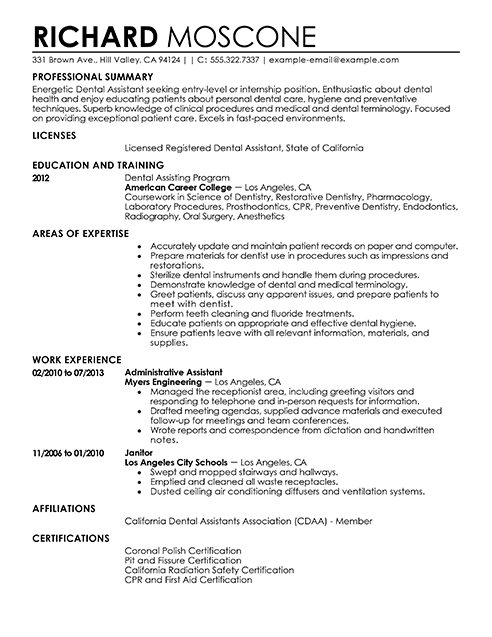 Student Dental Hygiene Resume Examples. Senior Dentist Smlf Of