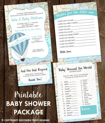 Printable Baby Shower Package