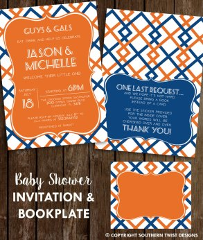 Baby Shower Invite and Bookplate