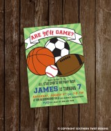 Are YOU Game? Sports Party