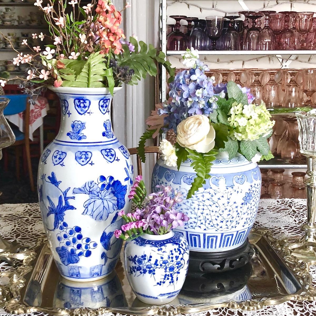 vintage planters southern vintage table