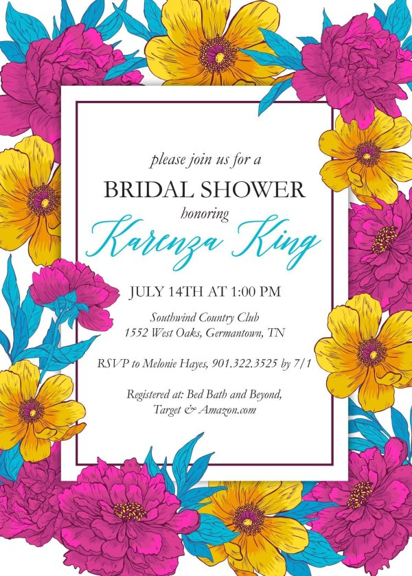 Bridal Shower Invitation_Violet_Blue_Yellow_SW