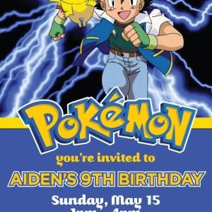 Pokemon Birthday Invitation