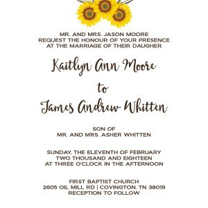 Sun Flower Wedding Invitation