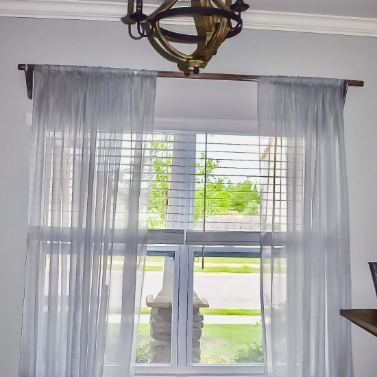 DIY curtain rod & bracket project
