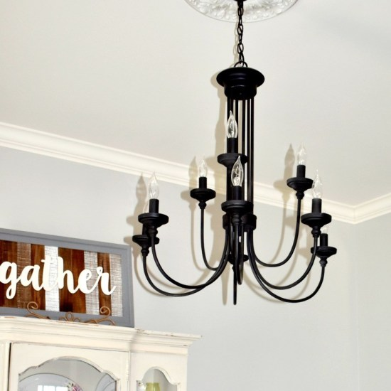 Farmhouse Lighting-Dinning room chandelier