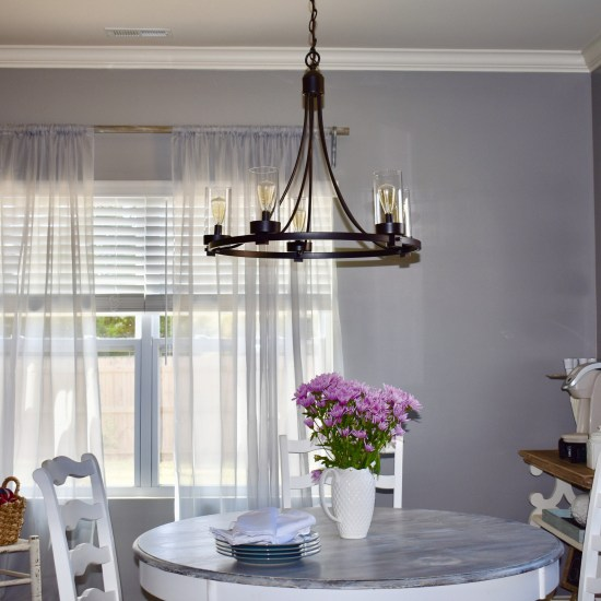 Farmhouse chandelier-kitchen