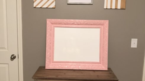 DIY whiteboard frame Project Completed