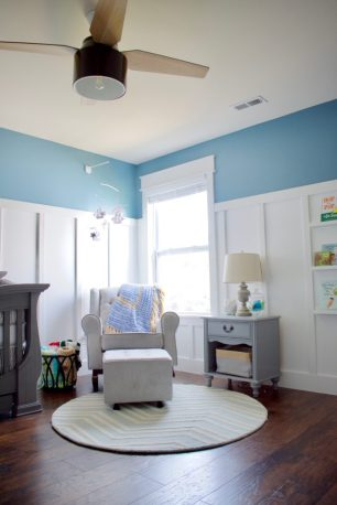nursery reveal, nursery renovation, gender neutral nursery ideas, boy nursery, boats nursery, kids room, tall board & batten, feature wall, sherwwin williams, best nursery ideas, nautical nursery, nursery storage, nursery organization, one room challenge