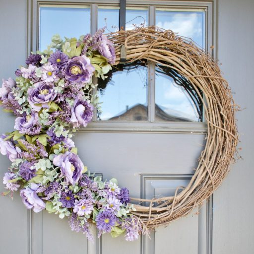 fall decor, fall wreath, front door decor, fall front door wreath, front door wreath, diy wreath, farmhouse wreath idea, wreath for fall, fall wreath, ideas for fall wreath, fall wreath ideas, fall wreath diy, fall flower wreath, flower wreath idea, lavender wreath, purple wreath idea, how to make a bow wreath, diy wired ribbon bow, how to make bow decorations, rustic fall wreath, rustic burlap wreath, burlap wreath for fall, diy burlap projects, fall hydrangea wreath, hydrangeas wreath, fall hydrangea wreaths, hydrangea fall wreath, wreath with hydrangea