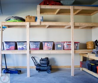 scrap Wood Storage Solutions & Organization ORC, One room challenege, storage, garage, shelving, garage organization, garage renovation