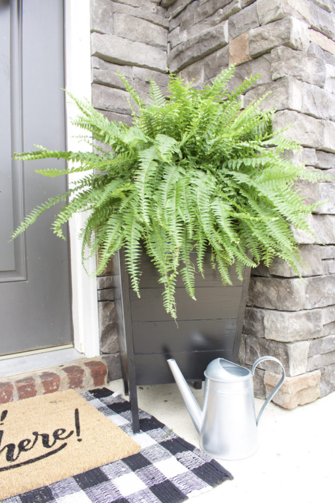 diy, planters, diy planters, planter boxes, garden, gardening, building planter boxes, planter boxes, outdoor decor, reg jig, front porch, pack porch, patio decor, plant decor, planting, outdoor, farmhouse planters, reg jig build, diy keg jig, pocket holes, rust-oleum, ferns, front door decor, gardening, planter box diy, easy planter boxes, plant storage, modern planters, craftsman planter boxes