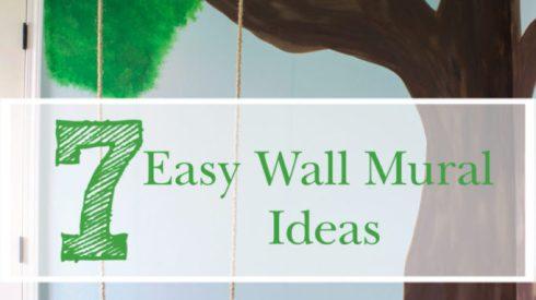 wall murals, wall mural ideas, feature walls, painted walls, kids wall ideas, nursery ideas, kids room ideas, stenciled walls, tree walls, stamped walls, geometric wall ideas, one room challenge, nursery design, inside swing, fun nursery ideas, fun kids room ideas, stenciled mural wall, wallpaper ideas
