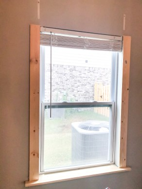 frame around window, window trim