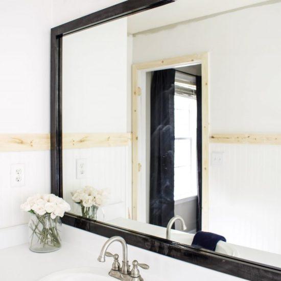 Bathroom mirror frame