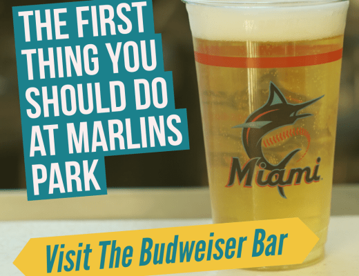 budweiser bar at marlins park
