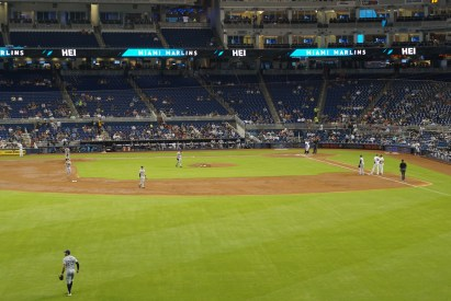 view from budweiser bar at marlins park