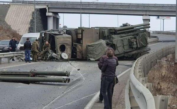 Systém Pantsir-S1 proti prevráteniu na diaľnici v ruskom Vladivostoku (fotografie, videá)