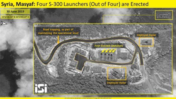 Štvrtý Launcher postavený na S-300 pozíciách v Sýrii Masyaf (Satellite Image)