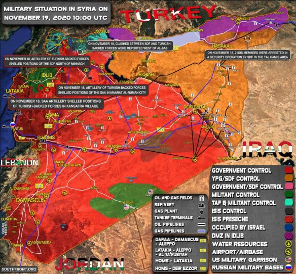 Military Situation In Syria On November 19, 2020 (Map Update)